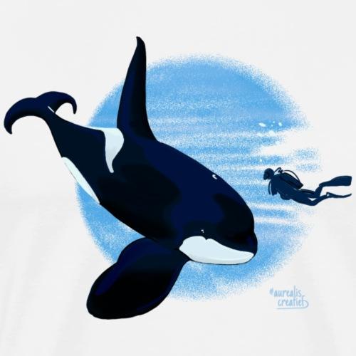 Orca en dappere duiker - T-shirt Premium Homme