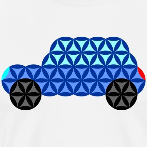 The Car Of Life - 02, Sacred Shapes, Blue. - Men's Premium T-Shirt