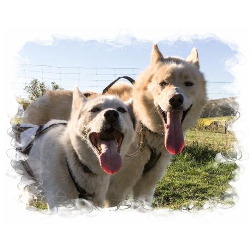 2-Hunde-Team - Männer Premium T-Shirt