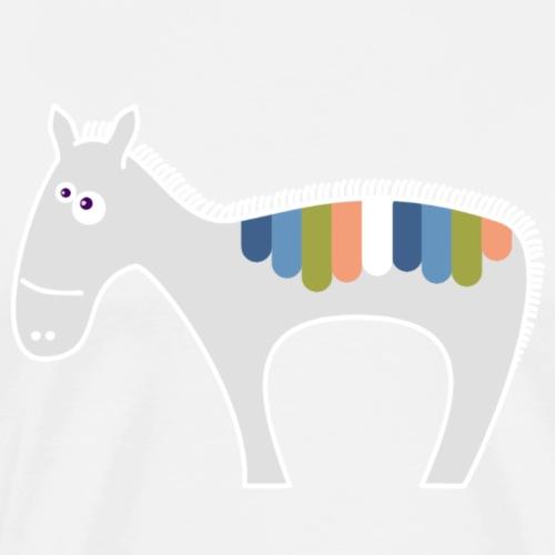 Regenboog zebra - T-shirt Premium Homme