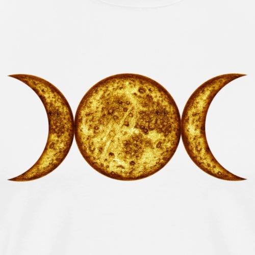 Mondphasen-yellow-wicca - Männer Premium T-Shirt