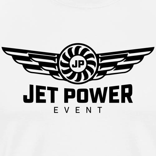 Logo JetPower Event, schwarz - Männer Premium T-Shirt