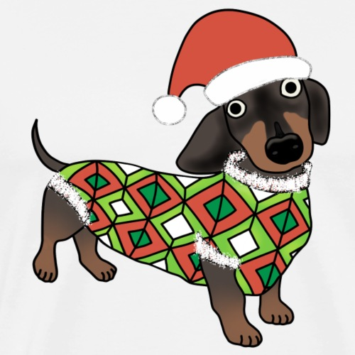 Christmas Dachshund - Men's Premium T-Shirt