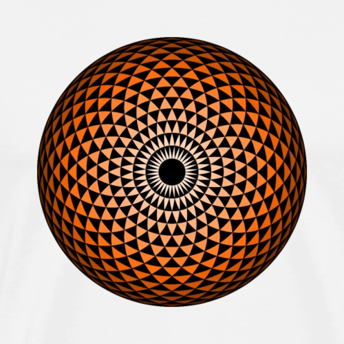 Geometric Mandala eye chestnut brown - Men's Premium T-Shirt