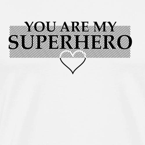 Superhero Black - Männer Premium T-Shirt