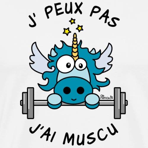Licorne Bleu Je Peux pas, J'ai Musculation