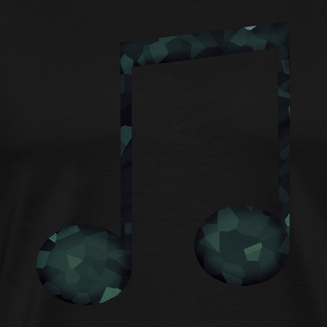 Low Poly Geometric Music Note