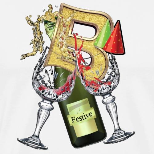 Festive wine party letter B - Men's Premium T-Shirt