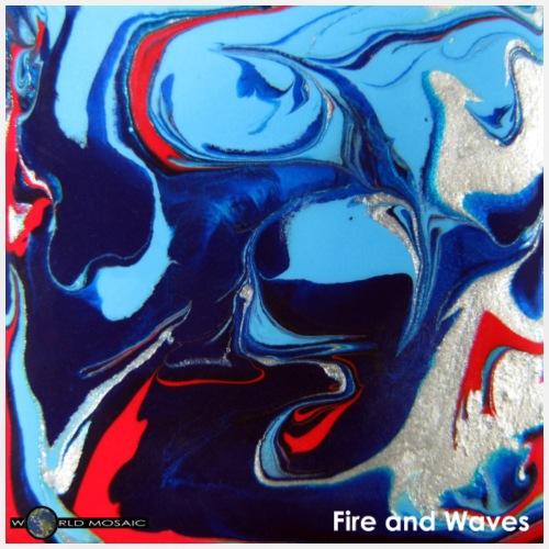 TIAN GREEN Mosaik DE049 - Fire and Waves - Männer Premium T-Shirt