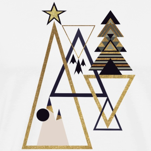 geometric xmas - Männer Premium T-Shirt