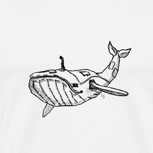 Submarine Whale - Männer Premium T-Shirt