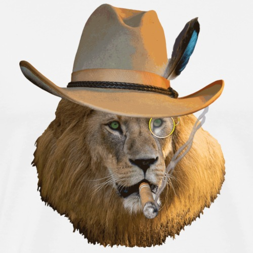 Löwe auf Safari - Männer Premium T-Shirt