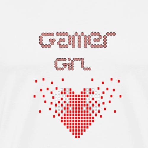gamer girl mit herz - Männer Premium T-Shirt