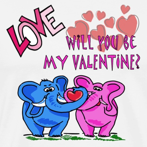 Will you be my Valentine? - Männer Premium T-Shirt