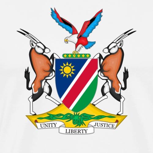 Namibia Coat of Arms - Männer Premium T-Shirt