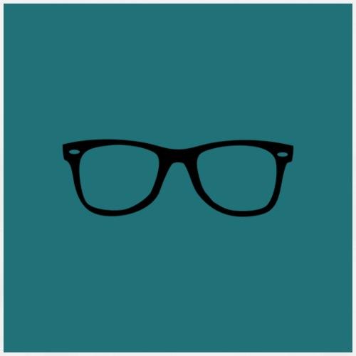 Lunettes - Fond bleu mat - T-shirt Premium Homme