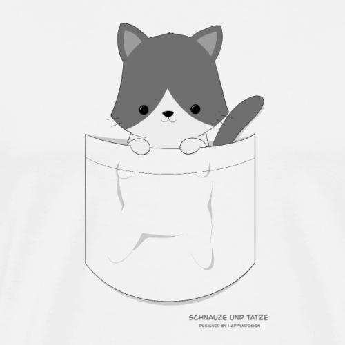 Katze in Tasche - Männer Premium T-Shirt