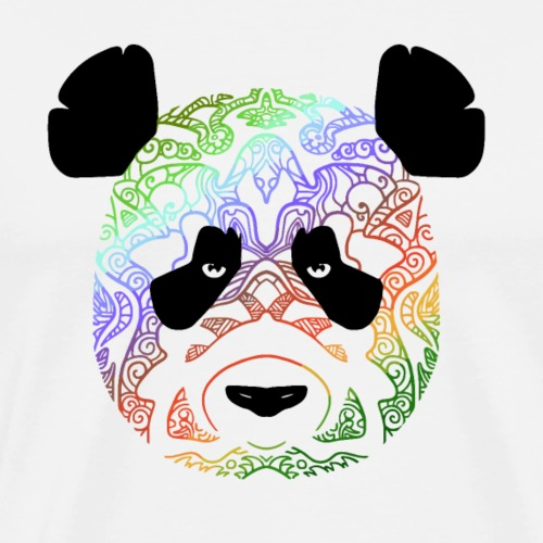 Panda en couleur 2 - T-shirt Premium Homme