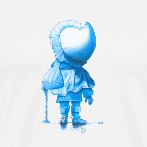 Unser Sandmännchen von hinten blau - Männer Premium T-Shirt