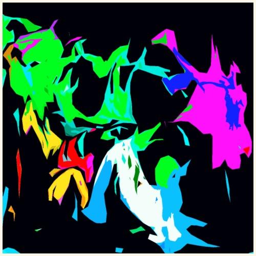 Ragnatele colorate - Maglietta Premium da uomo