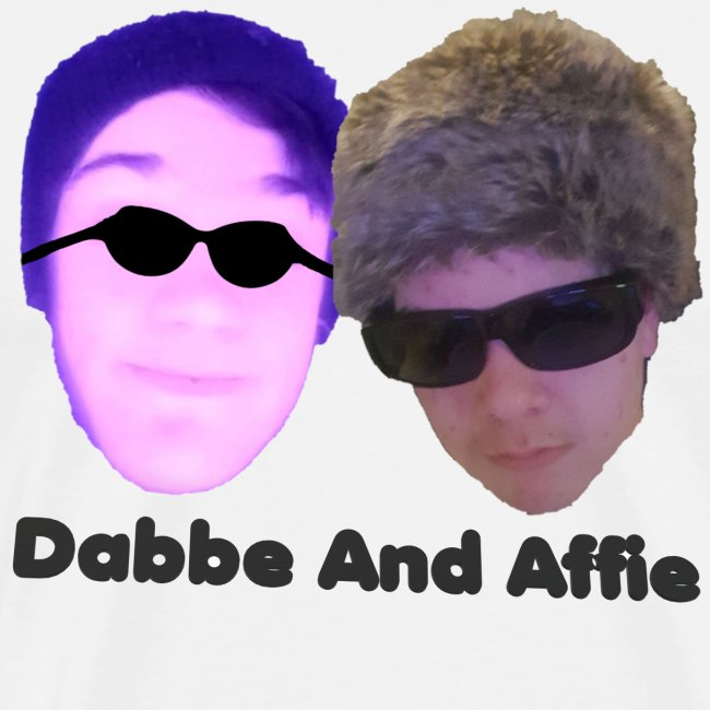 Dabbe And Affie Svart Text