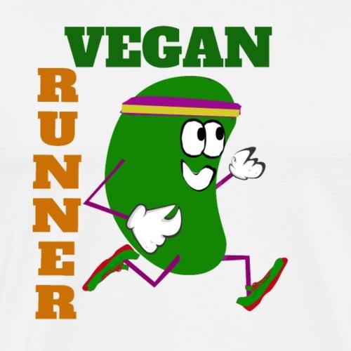 Vegan Runner Bean - Men's Premium T-Shirt