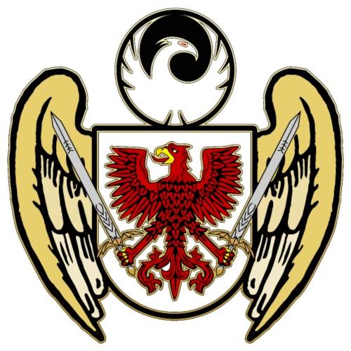 Flügel Adler Schild Phönix Phoenix Schwert - Männer Premium T-Shirt