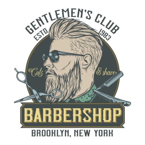 Classic barbershop font 5 - Maglietta Premium da uomo