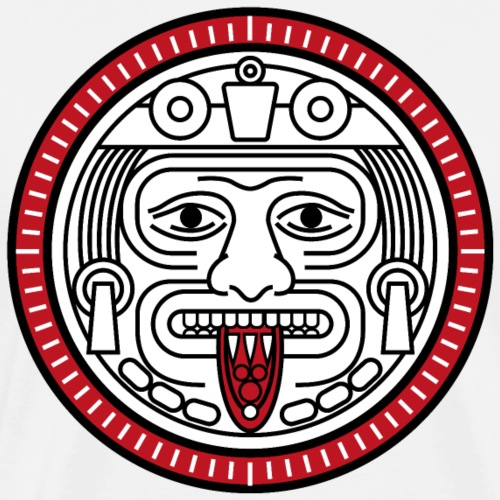 Visage Calendrier Maya Rouge - T-shirt Premium Homme