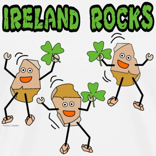 Ireland Rocks - Men's Premium T-Shirt