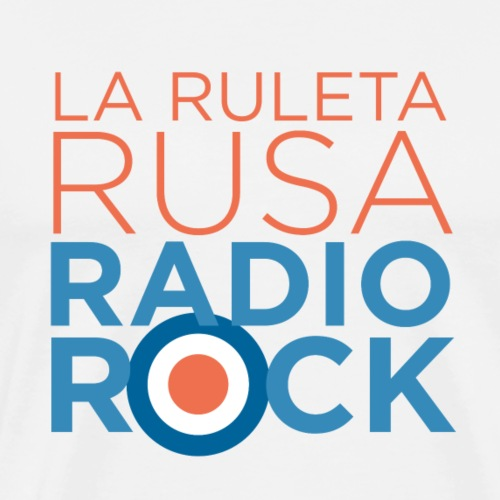 La Ruleta Rusa Radio Rock. Portrait Primary. - Camiseta premium hombre
