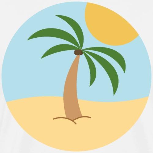 Calm the palm - Maglietta Premium da uomo