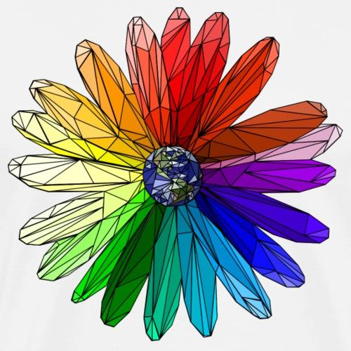 Blume polygon art, dreieck, welt, farben, toleranz - Männer Premium T-Shirt