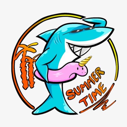 Summer Shark - Camiseta premium hombre