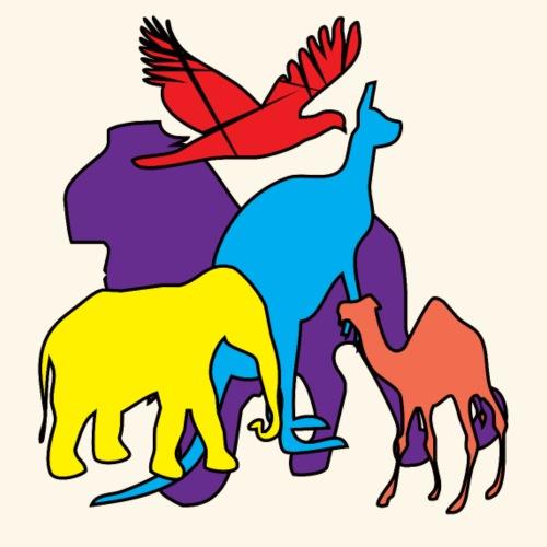 Animali colorati - Maglietta Premium da uomo
