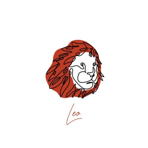 Leo Zodiac Sign Line Art - Männer Premium T-Shirt