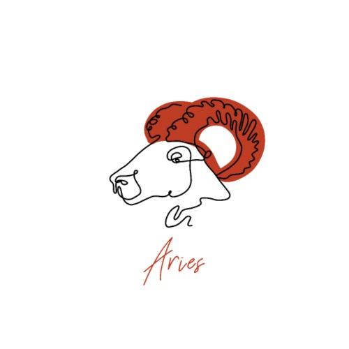 Aries Zodiac Sign Line Art - Männer Premium T-Shirt