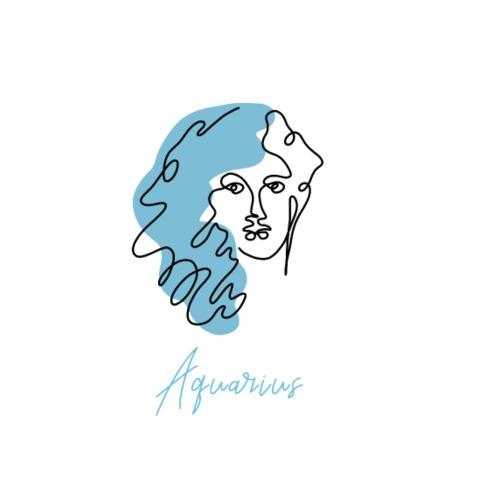 Aquarius Zodiac Sign Line Art - Männer Premium T-Shirt