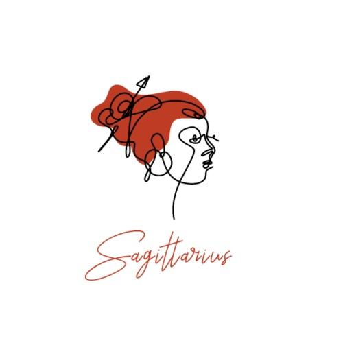 Sagittarius Zodiac Sign Line Art - Männer Premium T-Shirt