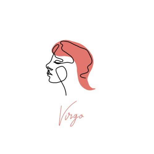 Virgo Zodiac Sign Line Art - Männer Premium T-Shirt