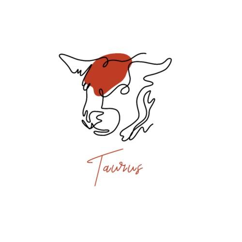 Taurus Zodiac Sign Line Art - Männer Premium T-Shirt