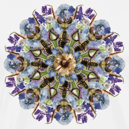Lavender and crystals mandala - Men's Premium T-Shirt