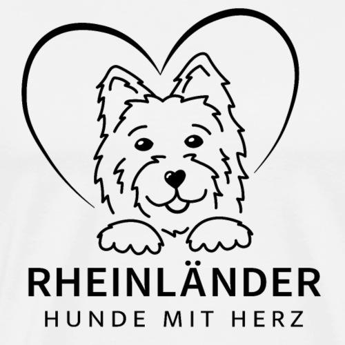 Logo Rheinländer Schwarz - Männer Premium T-Shirt