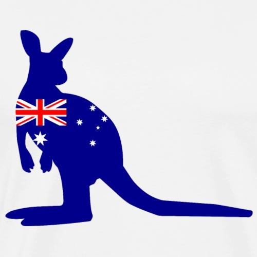 Kangaroo Australian Flag - Men's Premium T-Shirt