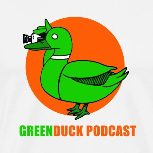 Greenduck Podcast Logo - Herre premium T-shirt