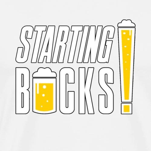 BIÈRE SUR LES STARTING BOCKS ! - T-shirt Premium Homme