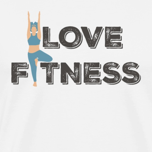 LOVE FITNESS - Camiseta premium hombre