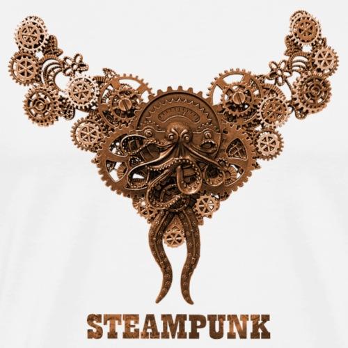 Steampunk Kette Zahnrad Punk Futurismus - Männer Premium T-Shirt