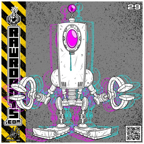 The D.R.O.P. Robot! - Herre premium T-shirt