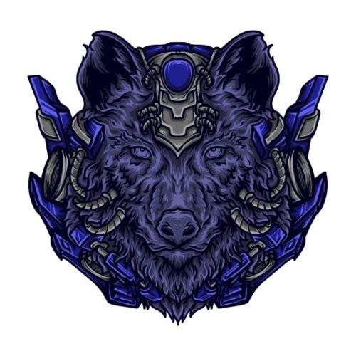 Trippy Cybrog Wolf - Männer Premium T-Shirt